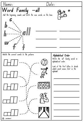 All Worksheets » Word Family All Worksheets  Printable Worksheets Guide For Children And Parents