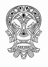 Coloring Mask African Adult Africa Pages Adults sketch template