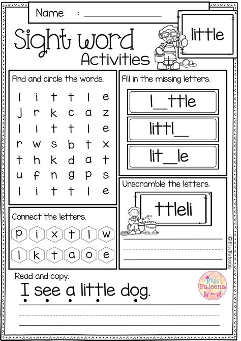 sight word activities pre primer classroom activities