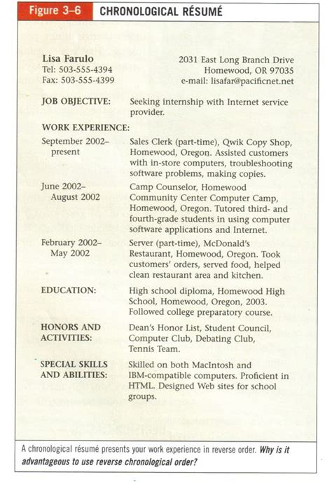 Chronological Resume And Functional Resume by Resume Exles Resume And Chronological Resume Template