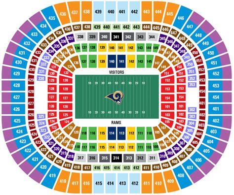 rams stadium st louis rams stadium seating chart