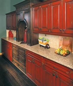 cuisine rustique repeinte cuisine rustique repeinte u2013 With kitchen cabinets lowes with papiers peints pour chambre