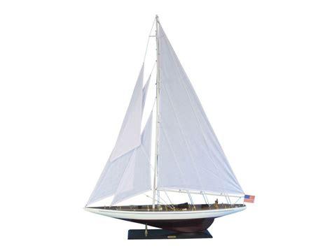 """Ranger 60""""  Large Wood Sailboat  Nautical Decoration"""