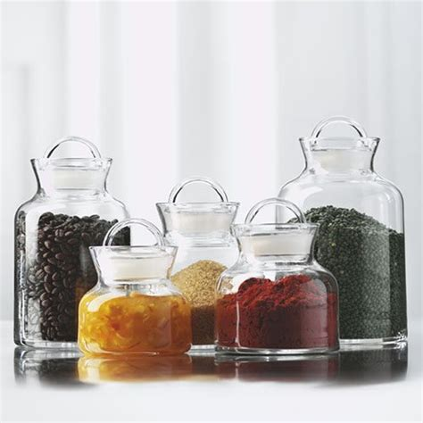 glass kitchen storage jars storage jars in glass for a healthier organized kitchen 3801