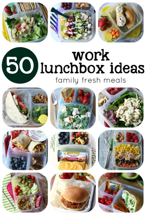 lunch ideas for over 50 healthy work lunchbox ideas family fresh meals