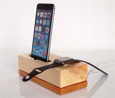 wooden iphone station handmade wooden iphone and apple charging station