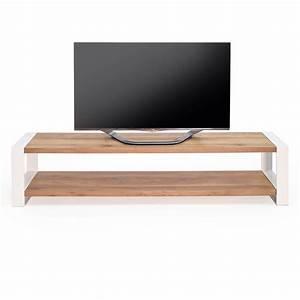 Lowboard Eiche Weiß : lowboard mio eiche massivholz metall wei 180cm ~ Frokenaadalensverden.com Haus und Dekorationen