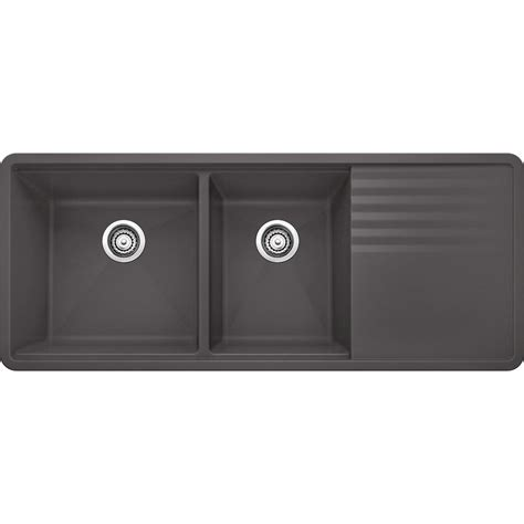 undermount composite granite kitchen sinks blanco precis multi level undermount granite composite 48 8722