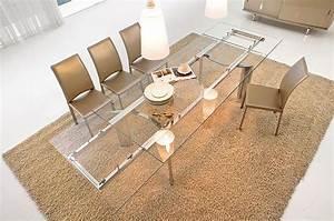 table verre rallonge salle manger With salle À manger contemporaineavec table de salle a manger en verre avec rallonge