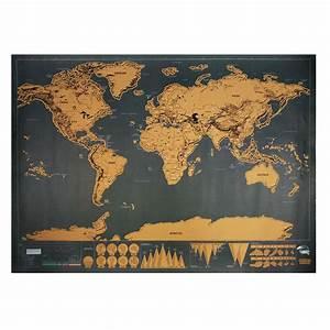 Carte Du Monde à Gratter Maison Du Monde : scratch map travel 82 5 x deluxe traveler scratch off personalized world map poster ~ Teatrodelosmanantiales.com Idées de Décoration