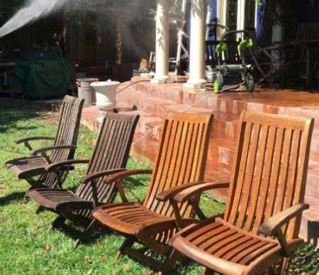clean  outdoor patio furniture   pressure