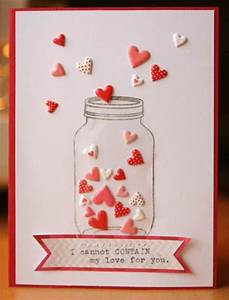 Homemade Mother's Day Cards | Mason jar cards, Valentine's ...