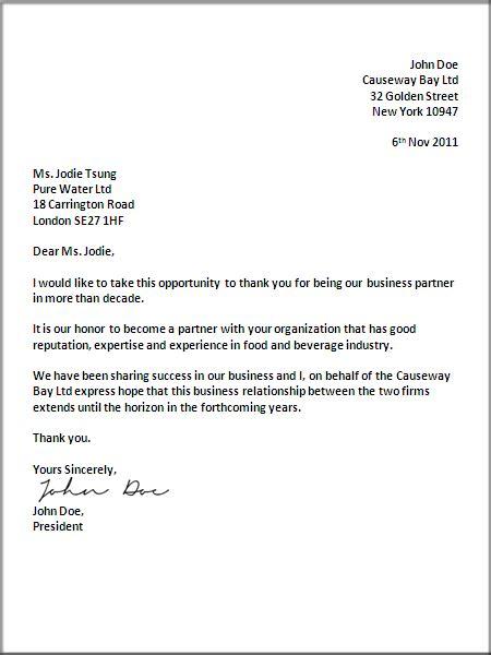 uk business letter format letter pinterest business