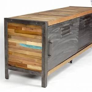 Meuble Tv Metal : meubles industriels bois metal accueil design et mobilier ~ Teatrodelosmanantiales.com Idées de Décoration