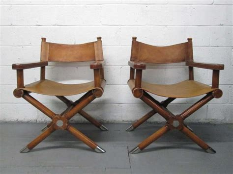 pair of ralph leather director s chairs image 2