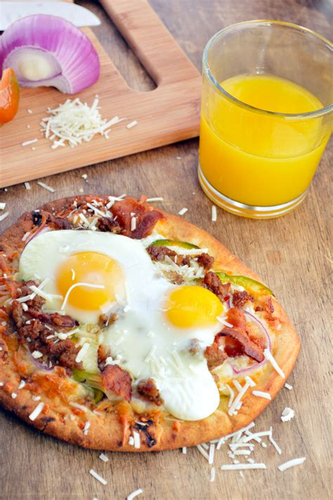 easy breakfast pizza to kick the weekend huffpost