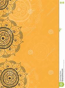 ethnic invitation card yellow background stock With wedding invitation background designs yellow