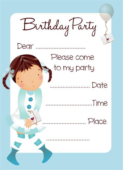 printable birthday invitations  coloring kids
