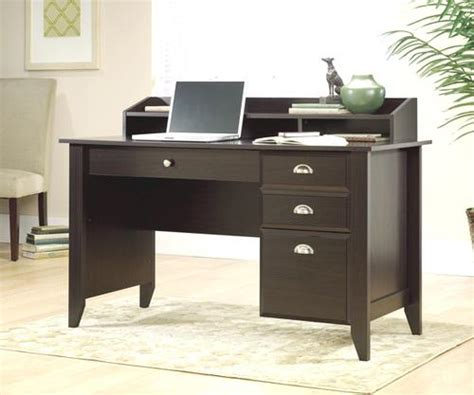 menards sauder computer desk sauder shoal creek jamocha wood desk at menards 174