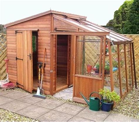 View Detailscombined Greenhouse And Shed 14 X 6 Tannalised