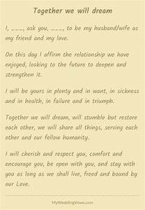136 best wedding vows images on pinterest wedding With non traditional wedding vows