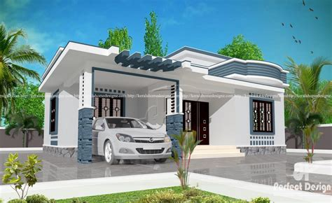 4 Lakh Home Design : 10 Lakhs Cost Estimated Modern Home, 807 Sq Ft With 2