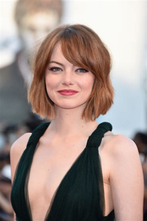 Emma Stone The Wob Wavy Lob Is The Hot New Hollywood