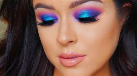 colorful makeup coverage glam and colorful makeup tutorial