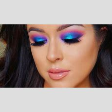 Full Coverage Glam And Colorful Makeup Tutorial  Youtube