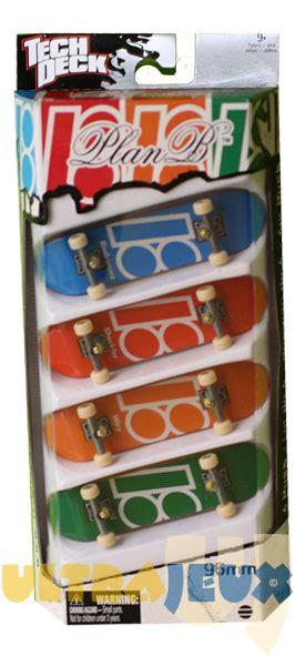 plan b tech decks 4 pack playfactory coffrets de finger skates 4 pack plan b