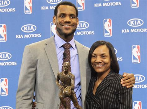 While james struggled to find steady work, she realized that her son would be better off in a more stable family environment, she allowed him to move in with the family of frank walker, a local youth football coach, who introduced james to basketball when he was nine years old. Gloria James, mother of Miami Heat star LeBron James ...