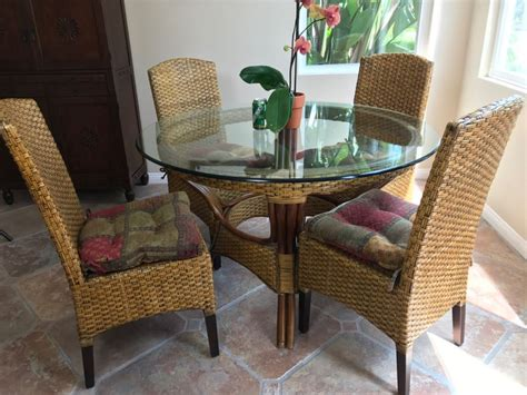 Indonesian Pier 1 Imports Glass Top Round Dining Table With (4) Chairs 4'r X 30'h Home Theatre Chairs Power Reclining Rocking Chair Springs Modern Patio Lounge Twin Bed Pull Out Office Depot Mat Windsor Dining Room Rattan