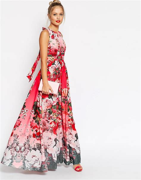 asos asos fading floral print maxi dress at asos