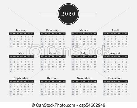 year calendar horizontal design calendar  year