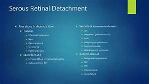 Management of retinal detachment