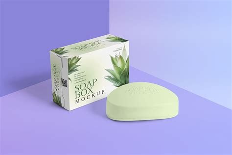 Includes special layers and smart objects for your creative works. Soap Bar and Packaging Mockup - Free Download