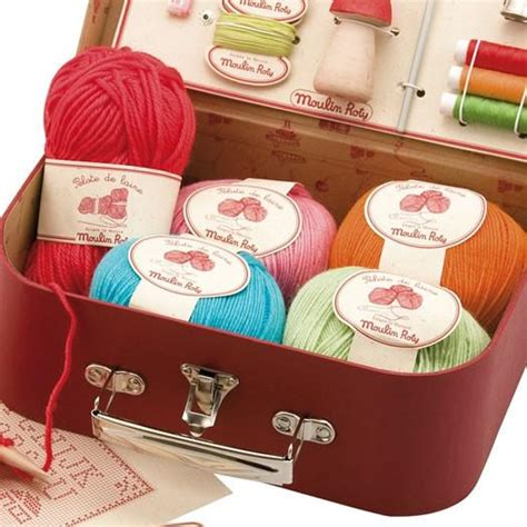 moulin roty kids sewing  knitting kit oompa toys
