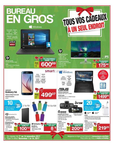 bureau gros staples canada flyers