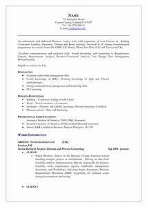 sample resume for business analyst in banking domain - uk resume format free excel templates