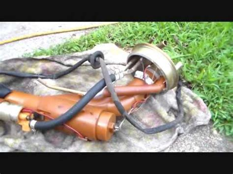 volvo   tank fuel pump removal youtube