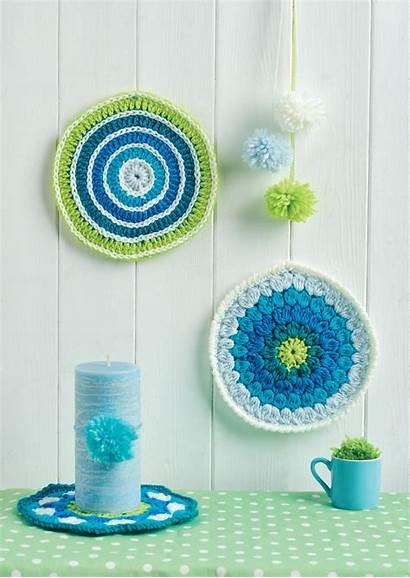 Circle Crochet Mandalas Wall Pattern Patterns