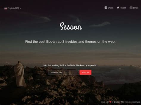 Free Coming Soon Page 25 Best Coming Soon Html Templates For Free And