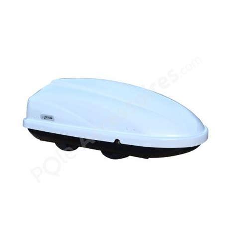 coffre de toit 370 litres travel blanc pole accessoires