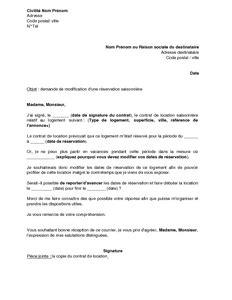 Modification Contrat De Travail Fusion by Exemple Gratuit De Lettre Demande Modification R 233 Servation