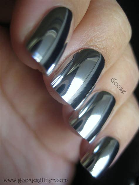 60 Glitter Nail Art Designs Art And Design Goose 39 S Glitter Mirror Nails