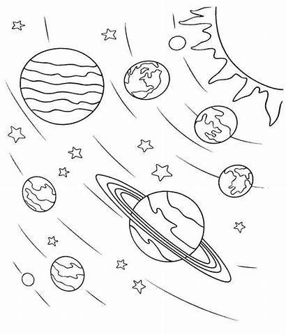 Coloring Pages Space Planets