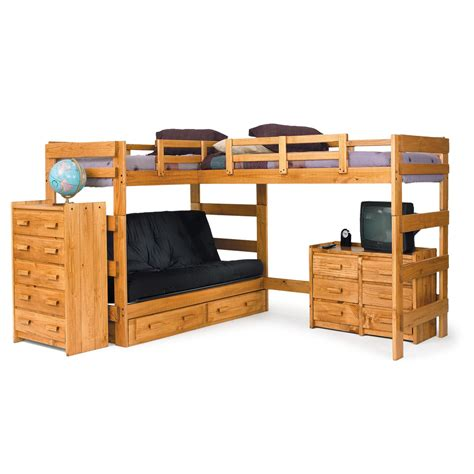 bunk bed chelsea home l shaped bunk bed customizable bedroom set