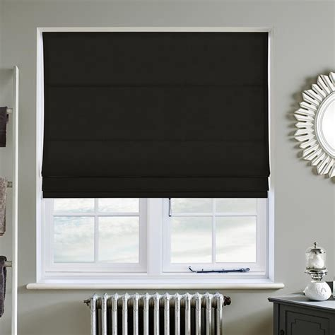 Buy Blinds by Faux Suede Deluxe Black Blind Direct Blinds