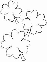 Coloring Pages St Shamrock Patrick Printable Shamrocks Clover Patricks Clover2 Leaf Four Templates Craft Template Crafts Sheets Bestcoloringpagesforkids Easy March sketch template