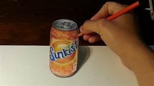 Amazing Anamorphic Drawing Illusion #1: Soda Can - YouTube